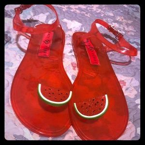 Katy Perry watermelon jelly sandals